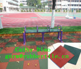 A ginástica Rubbr telha a telha de revestimento de borracha dos esportes ao ar livre da segurança, telhas de borracha do campo de jogos, Recycle Rubber Telha