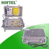 5-862MHz aumento 30dB delantero y amplificador reverso de 12dB AGC para la red de CATV