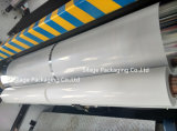 padrão europeu fundido 750mm*1500m*25mic da cor branca da película do envoltório da ensilagem