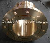 A peça fazendo à máquina do CNC, morre o bronze da carcaça para o encaixe/morre forjar