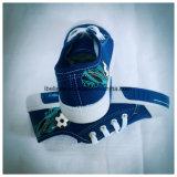 Ботинок верхушкы ботинка джинсыов мытья плоский с 2 цветами Outsole