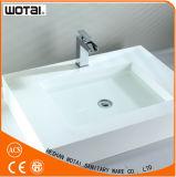 Robinet de toilettes de finition de plaque à levier unique de chrome