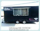 Fourgons mobiles de vente de nourriture de boeuf de chariot de boisson en Chine