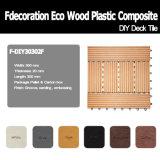 Блокируя смесь плитки палубы деревянная пластичная