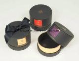 Caja de embalaje del regalo de papel redondo negro Jy-GB13