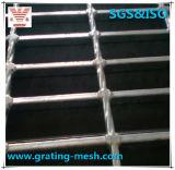 Piso de acero serrado llano del metal que ralla para la construcción