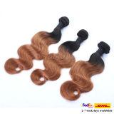 Pelo peruano de la Virgen del pelo humano del color de tres tonos