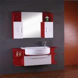 Nuova mobilia di legno fissata al muro del Governo di stanza da bagno con il Governo laterale