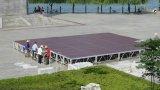 合板軽い屋外LEDモジュラー1.22X1.22mのポータブルのキャットウォークのアクリルのプラットホームのイベントの段階