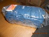Голубая нитрила перчатка работы покрытия полно (DCN406)