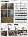 Plancher de luxe de vinyle de Vinilic de couleur de cliquetis simple de surface
