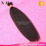 Capelli peruviani di punta della cheratina U 1 grammo ogni capelli diritti crespi peruviani del Virgin di estensione dei capelli umani di fusione di punta del chiodo del filo