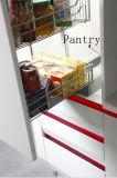 白い現代光沢度の高くスマートな食器棚