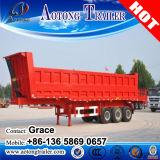 3 차축 40 톤 50 톤 60 톤 유압 덤프 트레일러, 콘테이너 팁 주는 사람 트레일러 (측 또는 끝 쓰레기꾼)