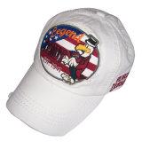 Gorra de béisbol lavada manera con la insignia Gjwd1712 del Applique