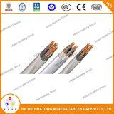 Aluminium de câble d'entrée de service de l'UL 854/type de cuivre expert en logiciel, type R/U Ser 4 4 6