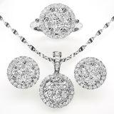 Progettare il commercio all'ingrosso per il cliente d'argento dei monili della CZ dei monili 925