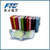 다채로운 가죽 사업 형식 명함통 카드 홀더