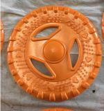 Haustier-Produkt-Hundekakifarbige Gummifrisbee-Bissen-Spielwaren