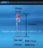 transparente Öl-Flasche der Glasware-100ml mit roten Kappen