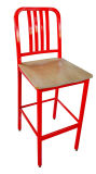 Plywood Seat를 가진 강철 Frame Base Bar Chair
