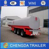 Remorque de réservoir de stockage de pétrole de 3 essieux 40000 litres de camion-citerne d'essence
