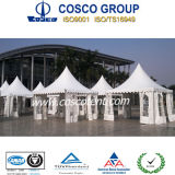 3m Small Pagoda Tent mit White Window Walls (COSCO TENT)