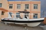 Ce Certificate 7.5m Barco de luxo Rib Hypalon Dinghy com acessórios