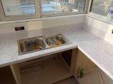 台所上のための金ブラウンの人工的な水晶水晶石の大きい平板