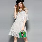 أبيض مجوّفة خاصّ بالأزهار شريط [هملين] يثنى أعلى & حالة [ك-ورد] ثوب