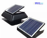 屋根の台紙の外部太陽電池システム30W 9.6ahが付いている太陽排気の換気扇