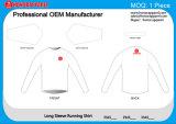 Lopende Overhemd Honorapparel van de Koker van de Verkoop van de douane het Sneldrogende In te ademen Hete Lange