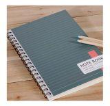 Coutume en gros de cahier, carnet de notes à spirale d'agenda de papier en pierre bon marché avec le papier coloré