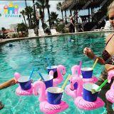 膨脹可能な浮遊フラミンゴのコーラの錫の浮遊物、飲み物のホールダー、カップ・ホルダー