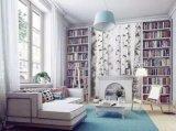 Digital-Drucken-wasserdichtes feuchtigkeitsbeständiges Silk Wand-Bambustuch für Hauptdekoration