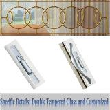 Moda de aluminio para puertas corredizas Modelo con doble vidrio templado