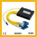 divisor do PLC da fibra óptica de Gpon FTTH da gaveta do ABS do módulo da única modalidade 1X8 mini