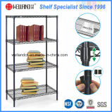 4 Tiers Heavy Duty ajustável Metal Wire Book Rack