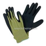 13G het nylon bedekte de Zandige Handschoen van het Werk van de Handschoenen van het Nitril Antislip met een laag