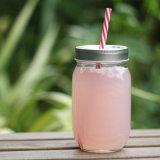 De kleurrijke Kruik van de Metselaar van het Glas van het Sap/van de Drank met Deksel en Stro