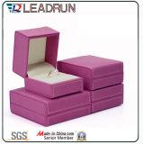 革ビロードの宝石類の収納箱の宝石類のパッキングギフト用の箱(YS725)
