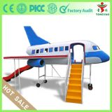 Enfants Playground Plane Model avec Slide Playground Firberglass Mini Plane pour Kindergarten