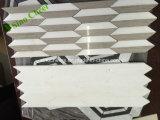 Mosaico de mármol blanco Polished de Carrara del hexágono de la alta calidad para Derocations interior