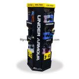 Angepasst gedruckt für verwöhnt Papierausstellungsstand-Fußboden-Standplatz-Bildschirmanzeige-Zahnstange