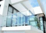 Frameless Toughened стеклянная балюстрада с Spigot нержавеющей стали