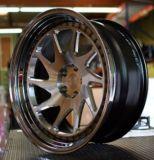 Borde de aluminio rotiforme de las ruedas de coche de la reproducción