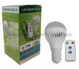 遠隔コントローラが付いている7W E27 LED再充電可能なLEDの球根