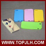 Polímero imprimible en blanco exterior dentro del caso de TPU para el iPhone 5/5s