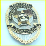 Two-Tone da prata e do ouro chapeados nos polícia Badge