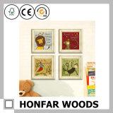 decorazione di legno della parete della cornice di stampa del fumetto del bambino 6 '' *6 ''